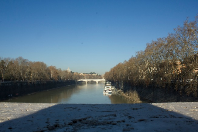 The view of the Tiber River