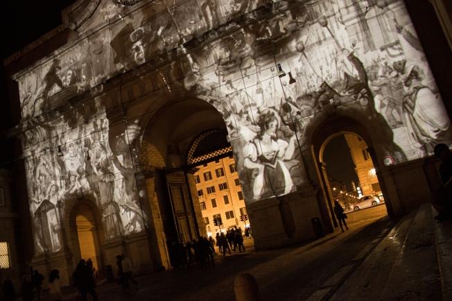 Roman carnival at night