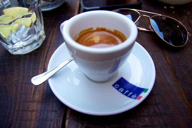 All that walking, we needed an espresso!