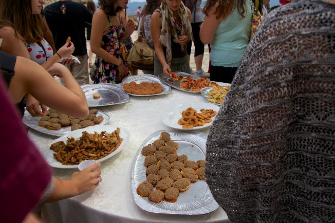 Students ravaged the tables as plates and plates were brought out of these yummy snacks.