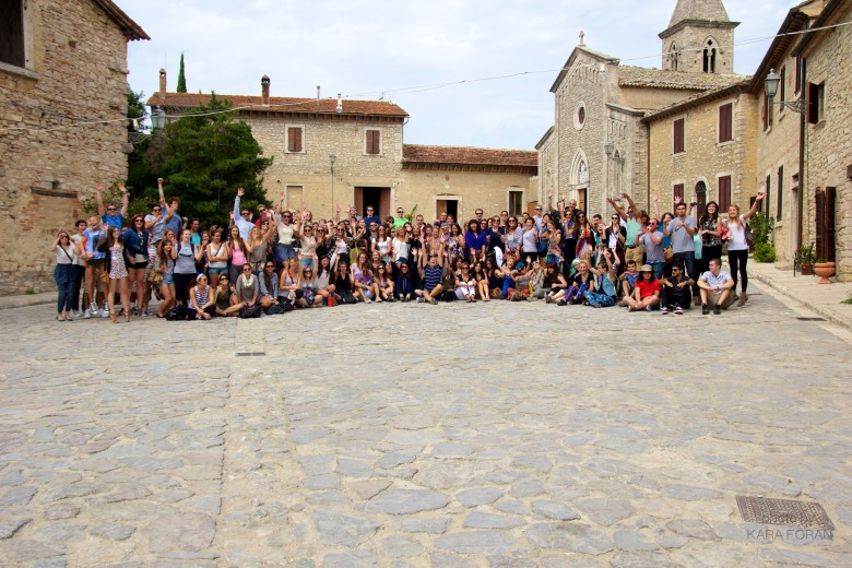 A group shot from Titignano