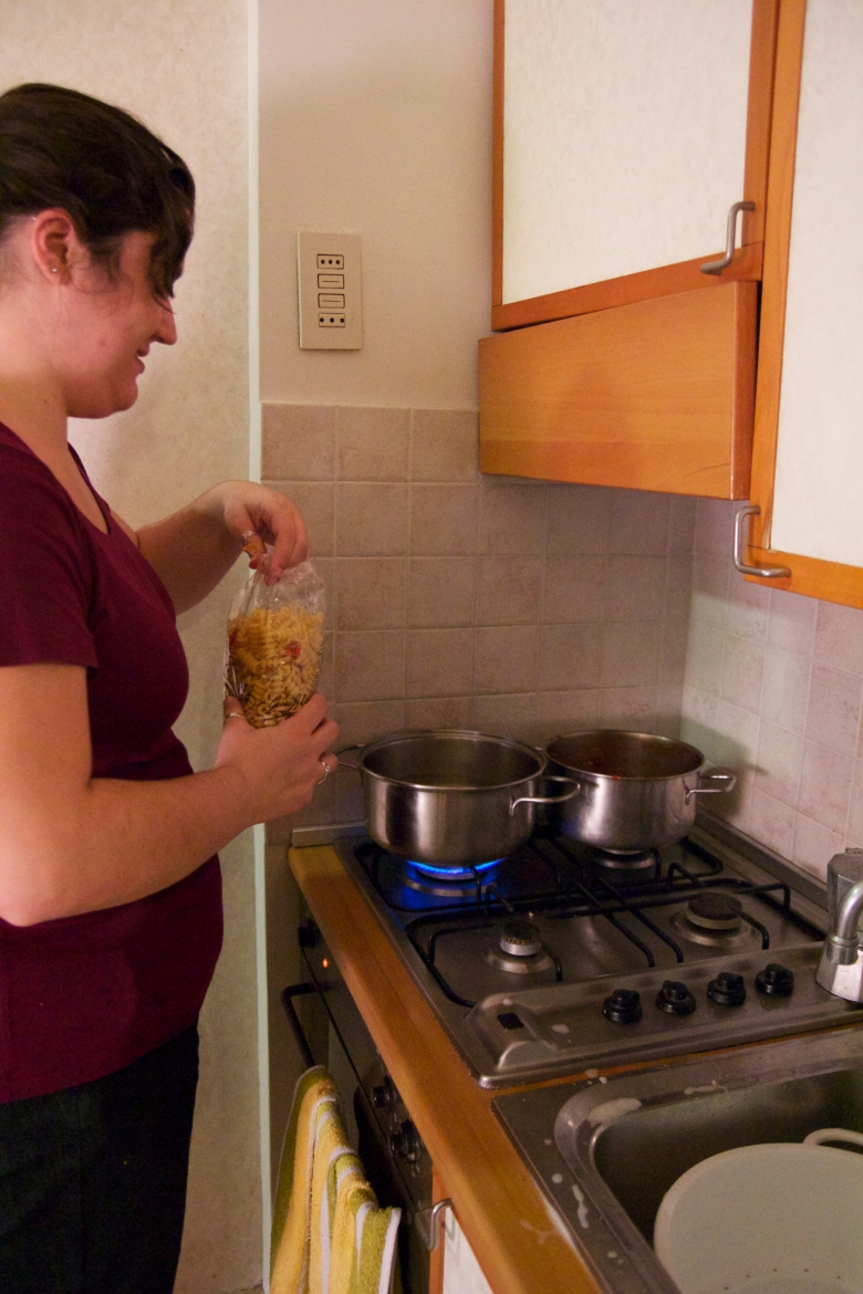 Some days (Every Day) Temple Student Adrienne likes to cook at the Residence.