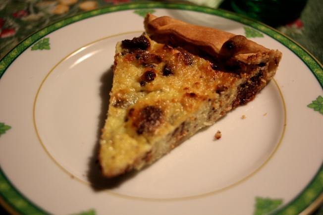 Some evenings I go my Italian relative's house for dinner: Ricotta e Chocolate dessert