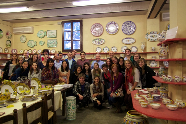 The group at Grazia Ceramics