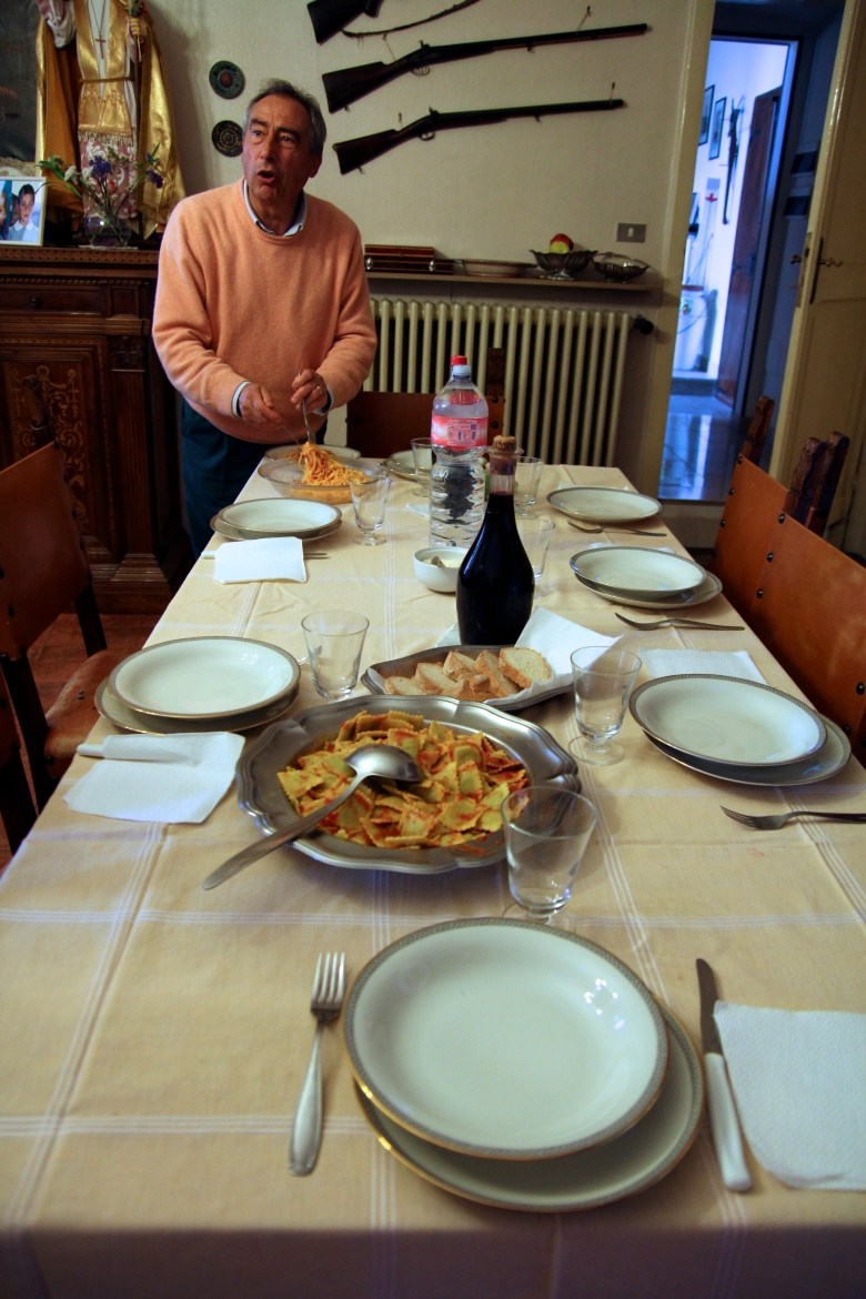 Lunch with Italian relatives: Eat a light breakfast because you know you'll eat a lot of food!!