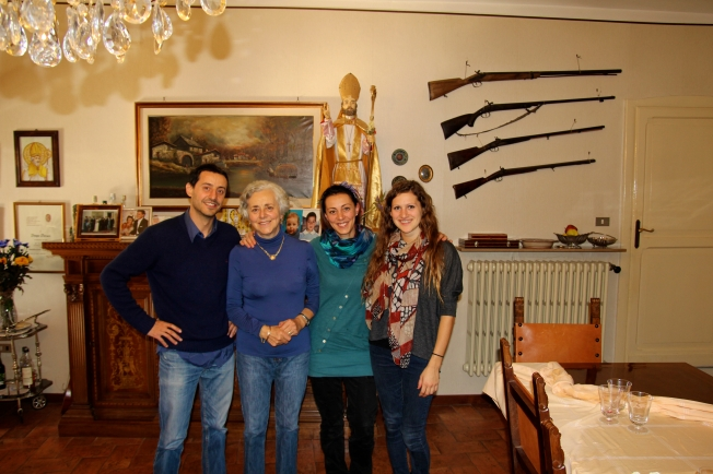 Photo Opp -My aunt and two of her children and me (on the right) - my mom always has me take a photo when I go to visit