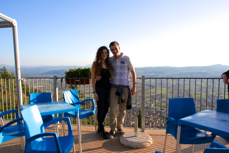 At the Top of Mt. Ingino we stopped at the cafe, unfortunately it was closed but we still could enjoy the view! We also stopped in the Basilica of Sant'Ubaldo (the town's patron Saint)