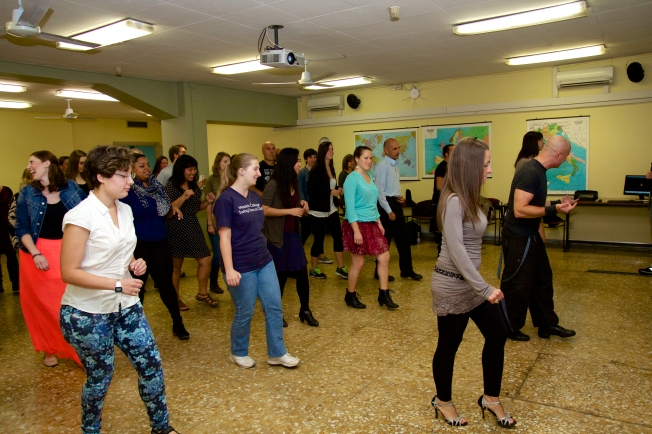 Welcome to Salsa Night! Maurizio our instructor started us off with the Basic Step 1 2 3 and 5 6 7