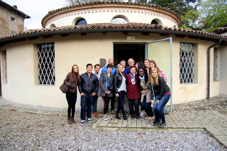 Outside the Museo del Parmigiano-Reggiano.