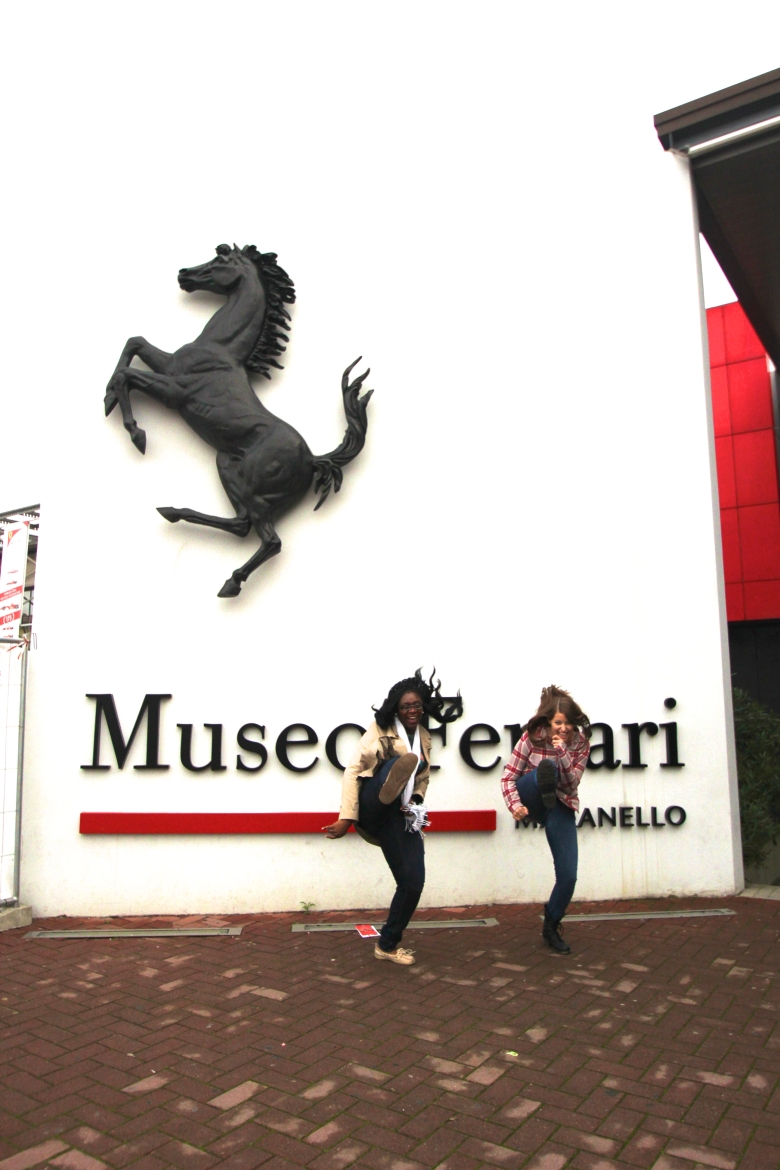 Students outside the Ferrari Museum!