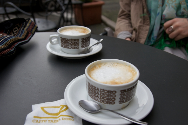 After a long bus ride and exploring Todi, we sat down for a much needed cappuccino break.