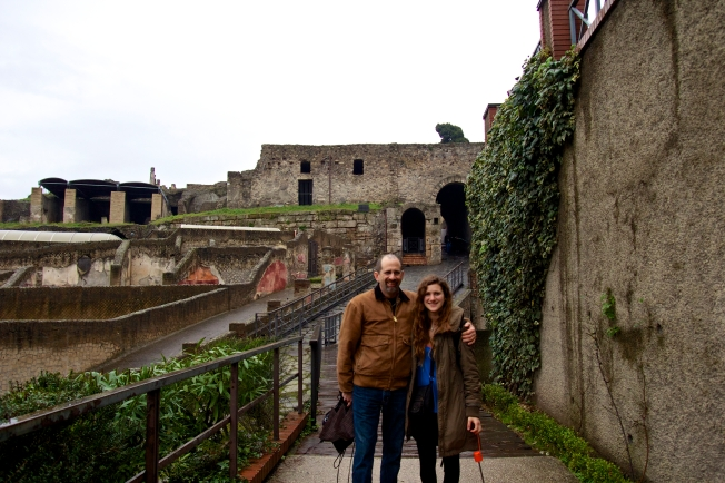 When dad comes to visit...go on a trip together to see the ancient ruins of Pompei. It will be an adventure.