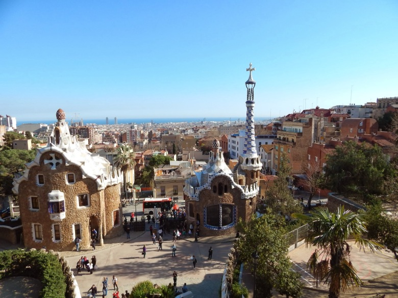Overlooking Park Guell.