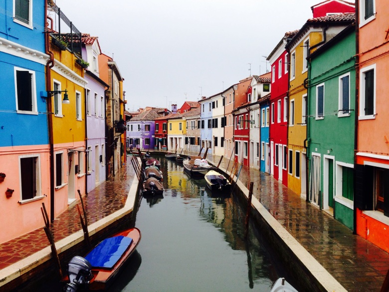 Burano's bright houses.