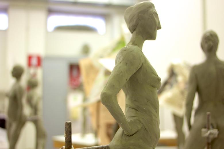 Students' sculptures