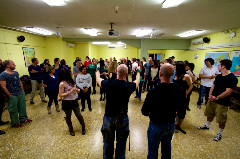 Salsa Night has begun with our energetic teacher Maurizio!