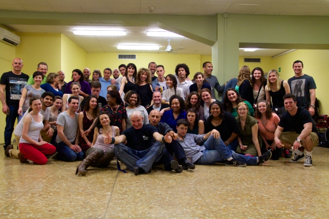 The Salsa Night Group. Everyone was an amazing and sweaty time!