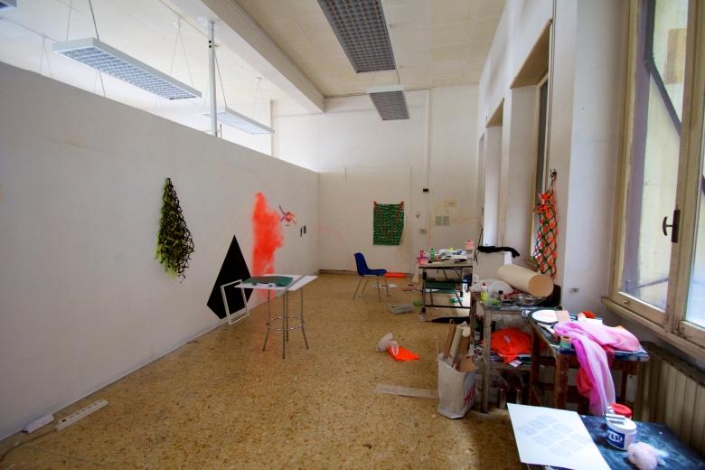 Studio of grad Lindsay Deifik