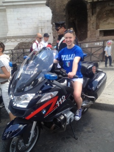 Nothing screams Italy like posing on a Carabinieri (military police) motorcyle on Republic Day!