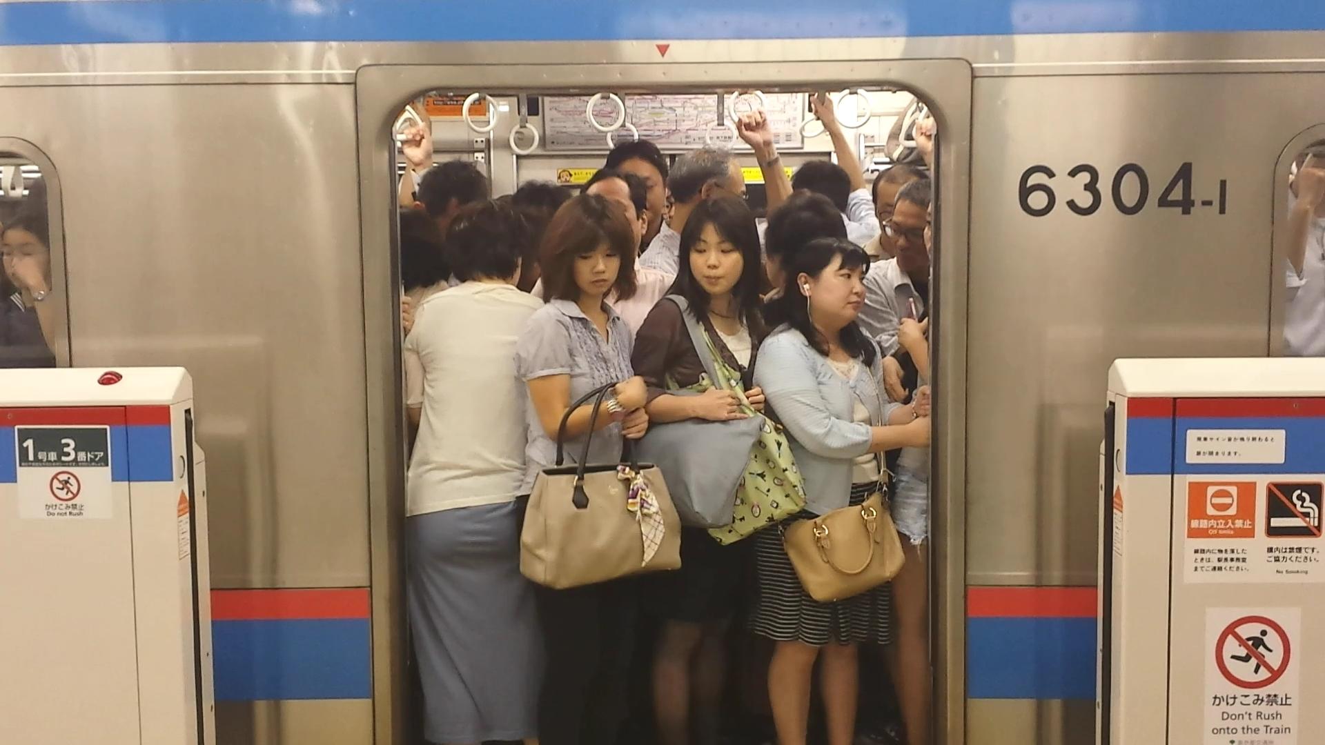 с японкой в метро