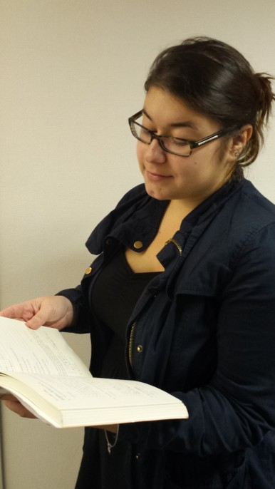 Japanese Admission student, Nina, sticks to the classics and prioritizes her schoolwork.