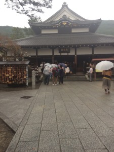 Even though it was raining that day, you have to appreciate the beauty of Japanese shrines and temples.