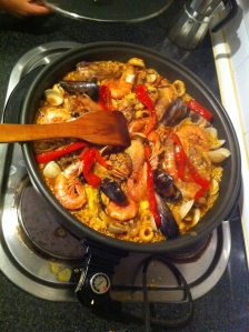 Paella in the making!