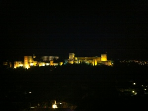 La Alhambra at night!