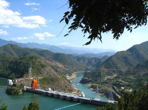 The Manwan Dam, one of five currently operating dams on the Mekong River.