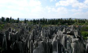 A view from a temple at the top of Stone Forest