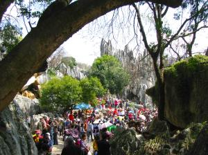 The park was packed with tourists the day we went.