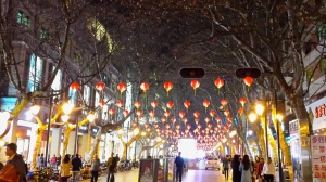 Like the rest of China, Kunming is slowly getting ready for the Chinese New Year with paper lanterns.