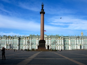 The Winter Palace or Hermitage, home of one of the largest collections of European art in the world