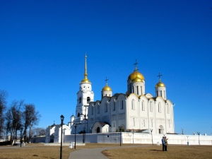 One of the many beautiful churches in Vladimir