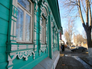 A perfect example of Suzdal's quaint, wooden architecture