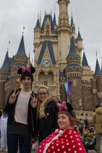 TUJ students Carlos Casademont, Megan Smith, and myself got a shot in front of Cinderella's castle just before they closed off the pavilion for a parade.