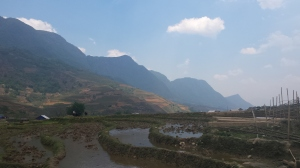 On our way to lunch in a Black Hmong village