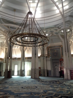 The mosque interior