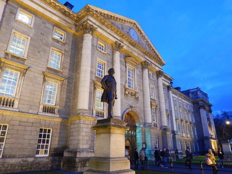Entrance to Trinity College in Dublin, Ireland.