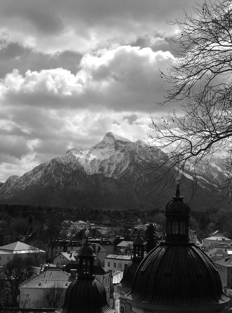 Start of the Alps seen from Salzburg, Austria.