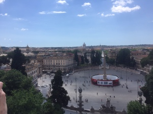 Piazza Del Popolo, as seen from Villa Borghese