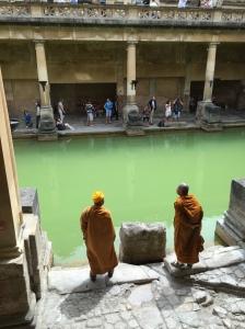 cool monks at roman baths