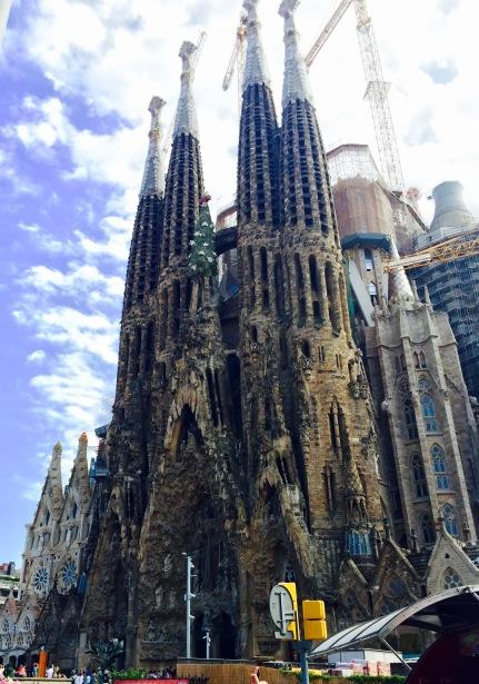 The Sagrada Familia, a Roman Catholic Church built by Antoni Gaudí