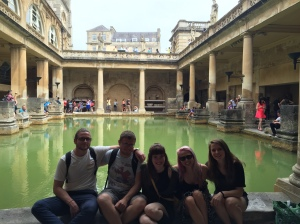 Group picture at the Roman baths