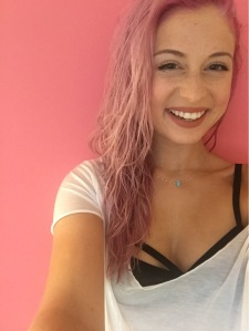 The wall in my bedroom matches my hair, so I couldn't resist taking a few selfies.