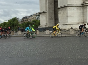 Standing in the rain on the coldest summer day I've ever experienced = Tour de France memories. Hi Christopher Froome!