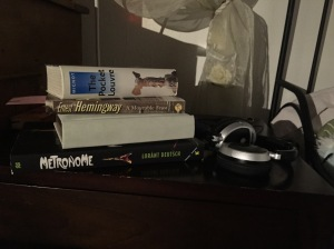 My current stack: History, Cooking, Hemingway, Art...