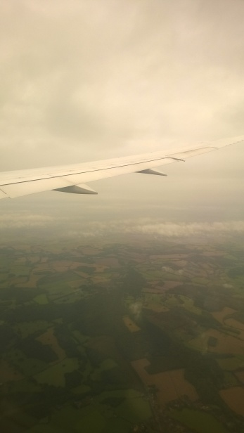 A glimpse of Ireland, en route to Stockholm.