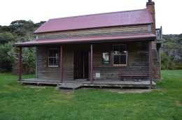 Whariwharangi Hut, our fourth and final hut on the track. (Pronounced