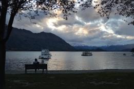 Lake Wanaka by nightfall.